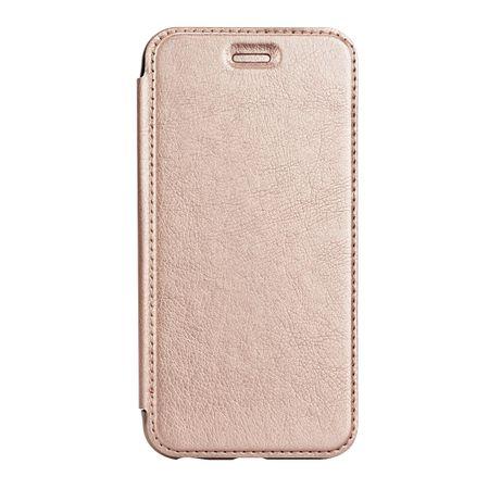 Samsung Galaxy A8 (2018) Leder Etui Hülle Flip Case GOLD – Bild 2