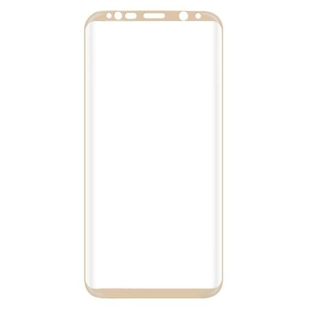 Samsung Galaxy A8 Plus RANDLOS Panzerglas Glas Schutzfolie Schutzglas Curved Tempered Glass GOLD – Bild 3