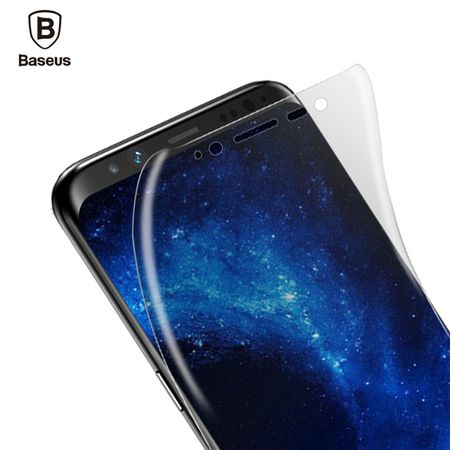 Samsung Galaxy A8 Plus Abgerundete PET Schutzfolie Curved ULTRA CLEAR Display Folie Klar – Bild 2