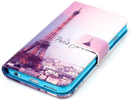 Samsung Galaxy A8 Plus Eiffelturm Paris Leder Etui Case Tasche Hülle Case PINK / VIOLETT – Bild 2