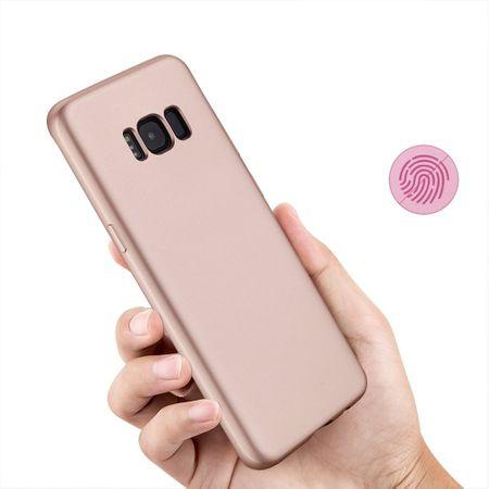 Samsung Galaxy A8 Plus Komplett Schutz Case + Panzerglas Full Protection Cover Hülle ROSÉGOLD – Bild 5