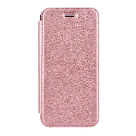 Samsung Galaxy A8 Plus Leder Etui Hülle Flip Case ROSÉGOLD / PINK – Bild 2