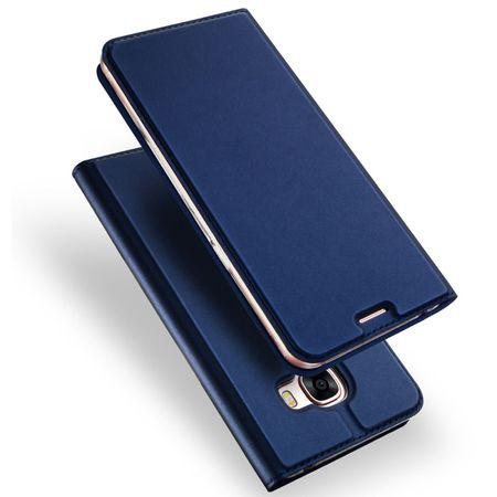 Samsung Galaxy A8 Plus DUX DUCIS Etui Leder Case Hülle mit Kartenfach BLAU – Bild 1