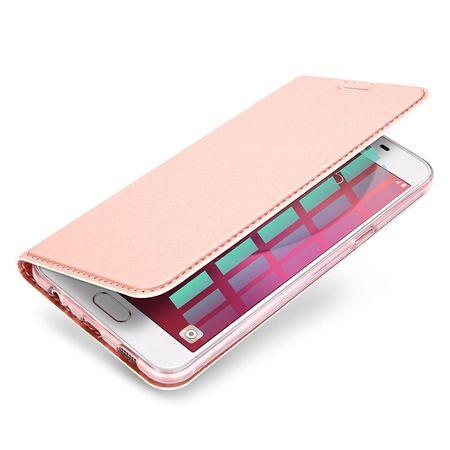 Samsung Galaxy A8 Plus DUX DUCIS Etui Leder Case Hülle mit Kartenfach ROSÉGOLD / PINK – Bild 3