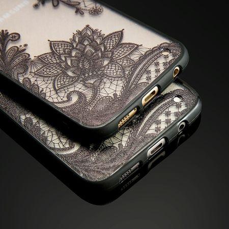 Samsung Galaxy A8 Plus Lace Rüschchen Mandala Henna Hülle Gummi TPU Silikon Case Cover – Bild 4