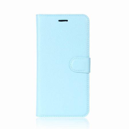 Samsung Galaxy S9 Flip Etui Leder Case Tasche Hülle mit Kartenfach BLAU – Bild 2
