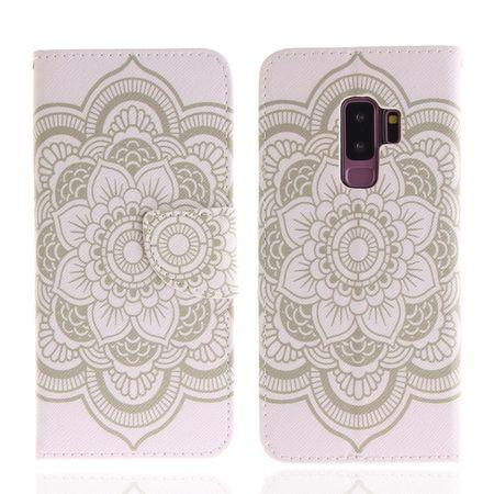 Samsung Galaxy S9 Mandala Henna Leder Etui Tasche Hülle Case WEISS – Bild 2