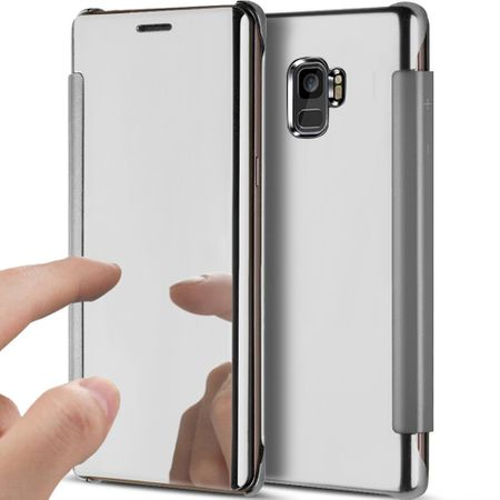 Samsung Galaxy S9 Clear Window View Case Cover Spiegel Mirror Hülle SILBER – Bild 1