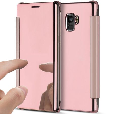 Samsung Galaxy S9 Clear Window View Case Cover Spiegel Mirror Hülle ROSÉGOLD Pink – Bild 1