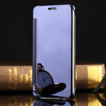 Samsung Galaxy S9 Clear Window View Case Cover Spiegel Mirror Hülle BLAU – Bild 2