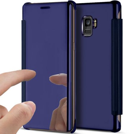 Samsung Galaxy S9 Clear Window View Case Cover Spiegel Mirror Hülle BLAU – Bild 1