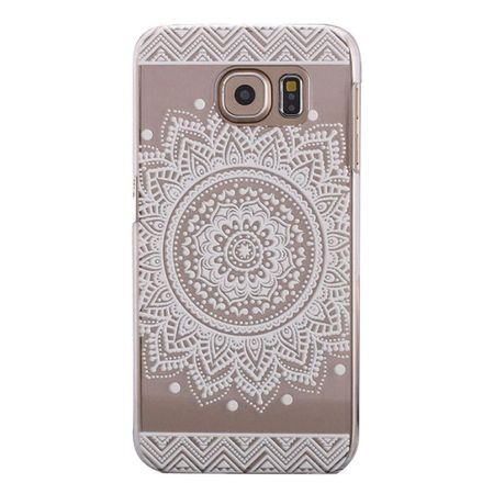 Samsung Galaxy S9 Indian Mandala Gummi TPU Silikon Case Hülle TRANSPARENT WEISS – Bild 1