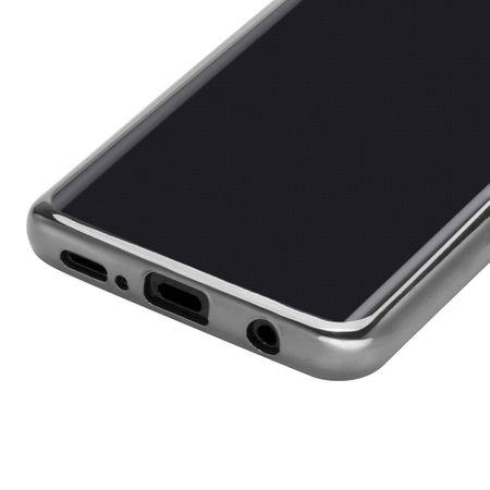 Samsung Galaxy S9 Metallic Gummi TPU Silikon Case Hülle Schutzhülle Cover Klar SILBER – Bild 6