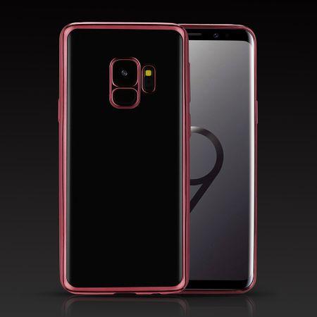 Samsung Galaxy S9 Metallic Gummi TPU Silikon Case Hülle Schutzhülle Cover Klar ROSÉGOLD – Bild 2