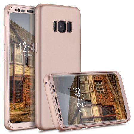 Samsung Galaxy S9 Komplett Schutz Case + Schutzfolie Full Protection Cover Hülle ROSÉGOLD – Bild 1