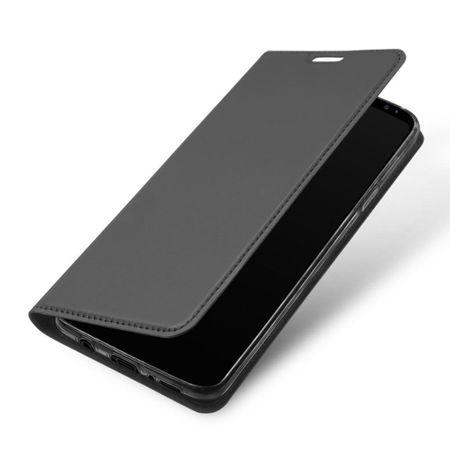 Samsung Galaxy S9 Plus DUX DUCIS Etui Leder Case Hülle mit Kartenfach GRAU – Bild 2