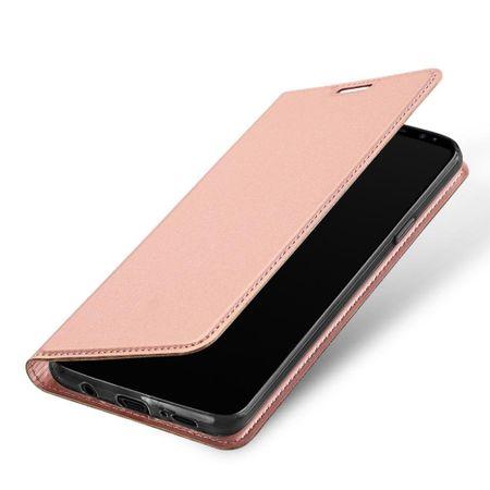 Samsung Galaxy S9 Plus DUX DUCIS Etui Leder Case Hülle mit Kartenfach ROSÉGOLD / PINK – Bild 2