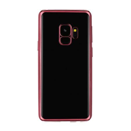 Samsung Galaxy S9 Plus Metallic Gummi TPU Silikon Case Hülle Schutzhülle Cover Klar ROSÉGOLD – Bild 2