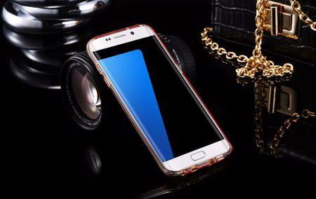 Samsung Galaxy S9 Plus Glitzer Hülle Gummi TPU Klar Silikon Crystal Clear Case GOLD – Bild 3