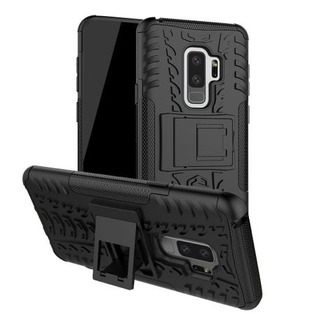 Samsung Galaxy S9 Plus Hybrid Outdoor Hülle Case Shock Proof SCHWARZ – Bild 1