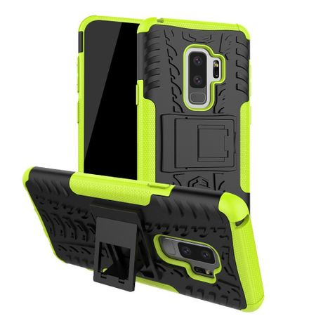 Samsung Galaxy S9 Plus Hybrid Outdoor Hülle Case Shock Proof GRÜN / SCHWARZ – Bild 1