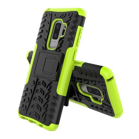 Samsung Galaxy S9 Plus Hybrid Outdoor Hülle Case Shock Proof GRÜN / SCHWARZ – Bild 2