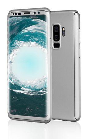 Samsung Galaxy S9 Plus Komplett Schutz Case + Schutzfolie Full Protection Cover Hülle SILBER – Bild 3