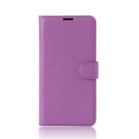 Sony Xperia XA2 Flip Etui Leder Case Tasche Hülle mit Kartenfach VIOLETT – Bild 2