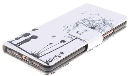 Sony Xperia XA2 Pusteblume Junge & Mädchen Leder Etui Flip Hülle Case Tasche WEISS – Bild 2