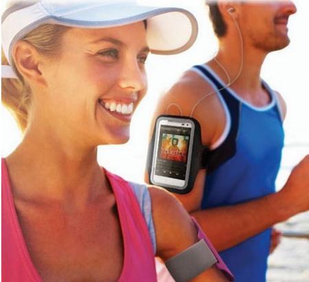 Samsung Galaxy S5 Jogging Armband Sport Fitness Band Halter SCHWARZ – Bild 1
