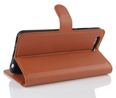 Sony Xperia XA2 Ultra Flip Etui Leder Case Tasche Hülle mit Kartenfach BRAUN – Bild 4