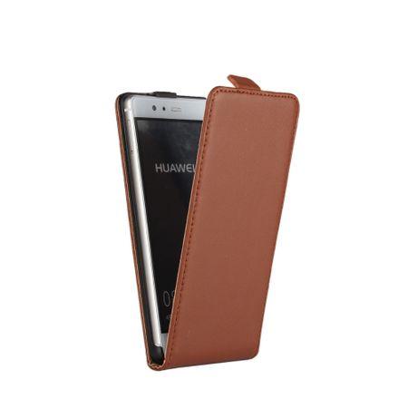 Sony Xperia XA2 Ultra Leder Flip Case Cover Etui Tasche Vertikal Hülle BRAUN – Bild 2