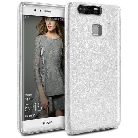 Sony Xperia XA2 Ultra Glitzer Hülle Gummi TPU Klar Silikon Crystal Clear Case SILBER