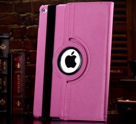 iPad Air 2 360° Flip Etui Tasche Cover Leder Case PINK ROSA – Bild 1