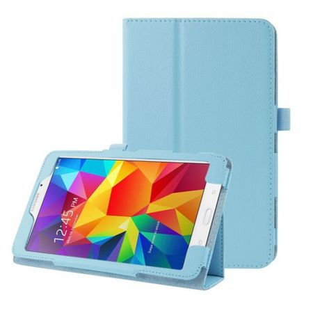 "Samsung Galaxy Tab 4 8.0"" Smart Flip Etui Hülle Leder Case Tasche BLAU – Bild 1"