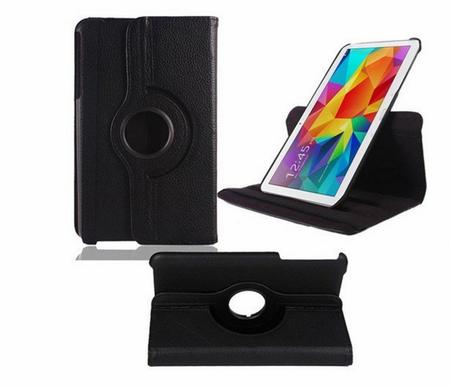 "Samsung Galaxy Tab 4 8.0"" 360° Flip Etui Tasche Cover Leder Case SCHWARZ"