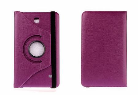 "Samsung Galaxy Tab 4 8.0"" 360° Flip Etui Tasche Cover Leder Case LILA VIOLETT – Bild 3"