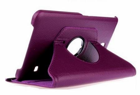 "Samsung Galaxy Tab 4 8.0"" 360° Flip Etui Tasche Cover Leder Case LILA VIOLETT – Bild 1"