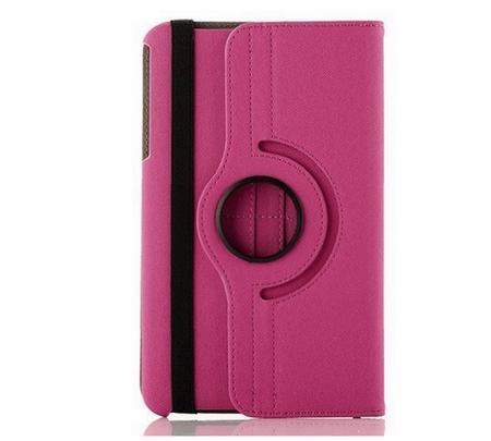 "Samsung Galaxy Tab 4 8.0"" 360° Flip Etui Tasche Cover Leder Case PINK ROSA – Bild 3"