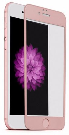 iPhone 6S Plus / 6 Plus Randlos PANZERGLAS Abgerundetes Tempered Glass Glas Schutzfolie ROSÉGOLD – Bild 2