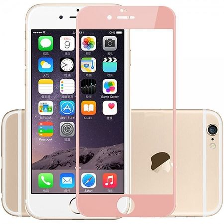 iPhone 6S Plus / 6 Plus Randlos PANZERGLAS Abgerundetes Tempered Glass Glas Schutzfolie ROSÉGOLD – Bild 4