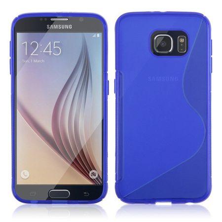 Samsung Galaxy S6 S-Line Gummi TPU Silikon Case Cover Hülle BLAU