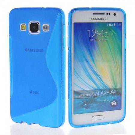Samsung Galaxy A3 2015 S-Line Gummi TPU Silikon Case Cover Hülle BLAU