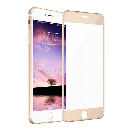 iPhone 7 RANDLOS Panzerglas Glas Schutzfolie Schutzglas Curved Tempered Glass GOLD