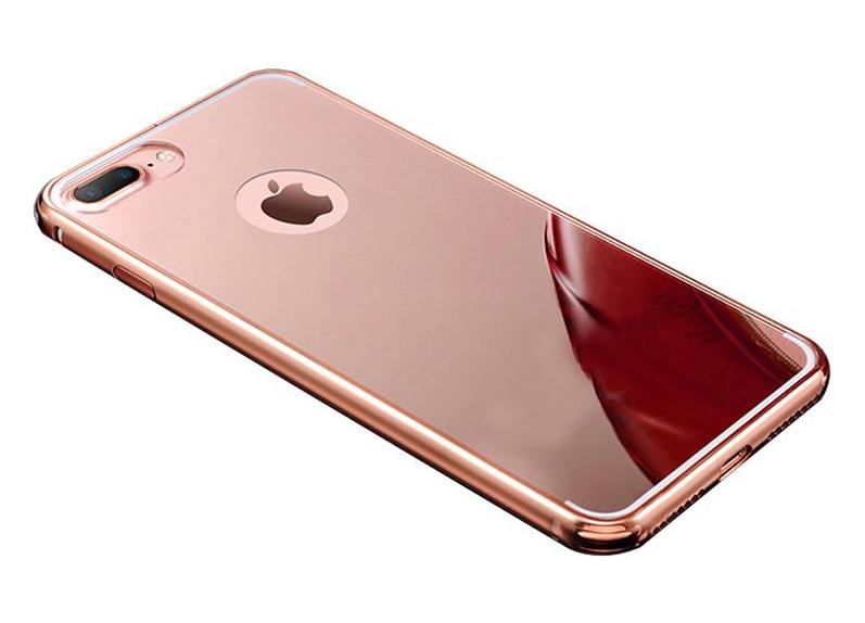 sale retailer 390b5 592b5 iPhone 7 Plus Metall Spiegel Bumper Case Mirror Hülle Aluminium ROSÉGOLD