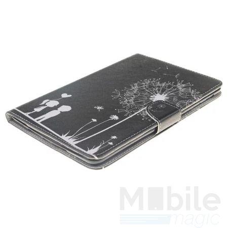 "Samsung Galaxy Tab E 9.6"" Leder Etui Hülle Pusteblume Junge & Mädchen Case SCHWARZ – Bild 2"