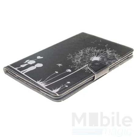 iPad Air 2 Leder Etui Hülle Pusteblume Junge & Mädchen Case SCHWARZ – Bild 3