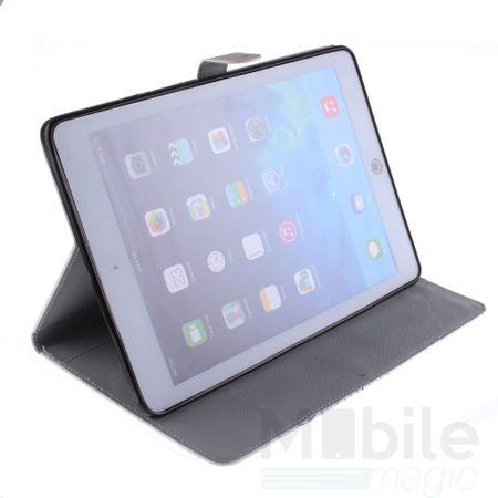 "iPad Pro 12.9"" Leder Etui Hülle Pusteblume Junge & Mädchen Case SCHWARZ – Bild 4"