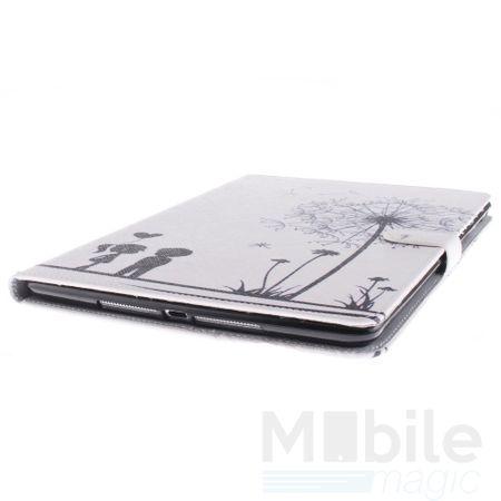 Samsung Galaxy Tab A 10.1 Leder Etui Hülle Pusteblume Junge & Mädchen Case WEISS – Bild 2