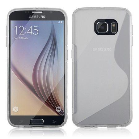 Samsung Galaxy S6 S-Line Gummi TPU Silikon Clear Case Cover Hülle Klar TRANSPARENT